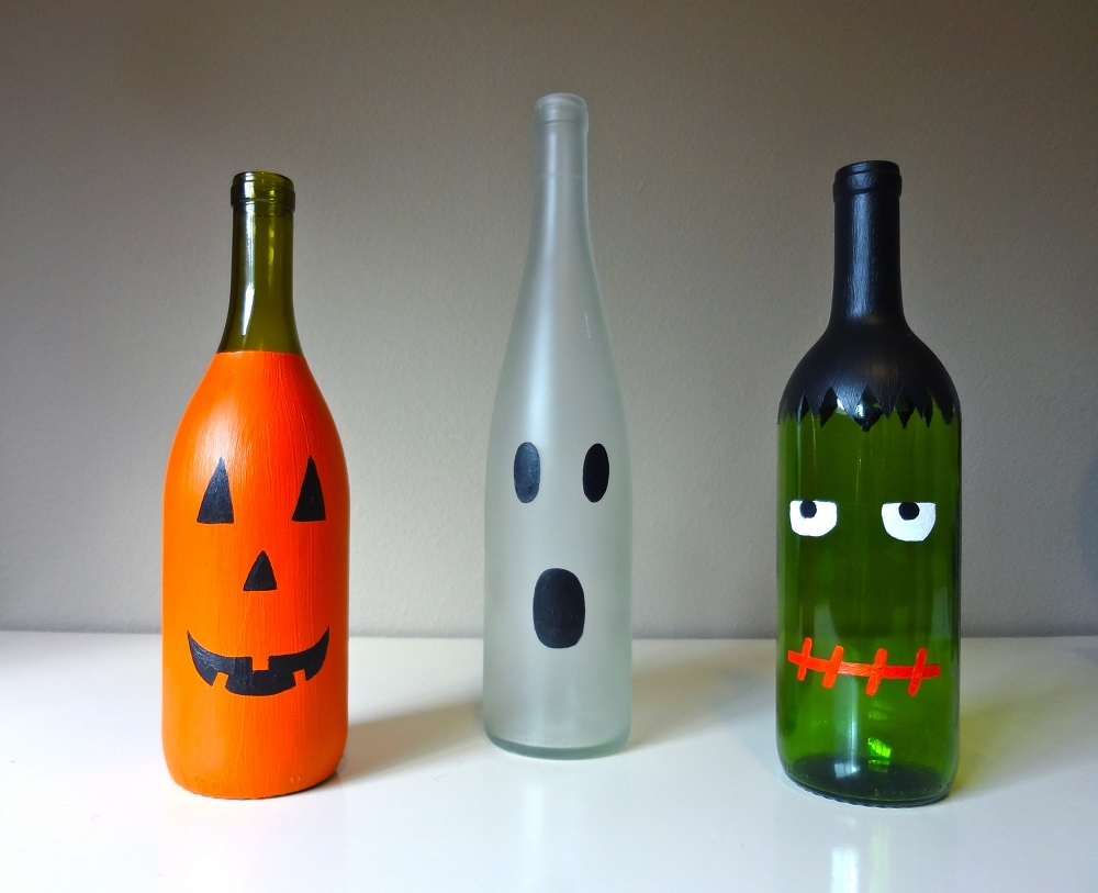 Halloween Wine Bottles After