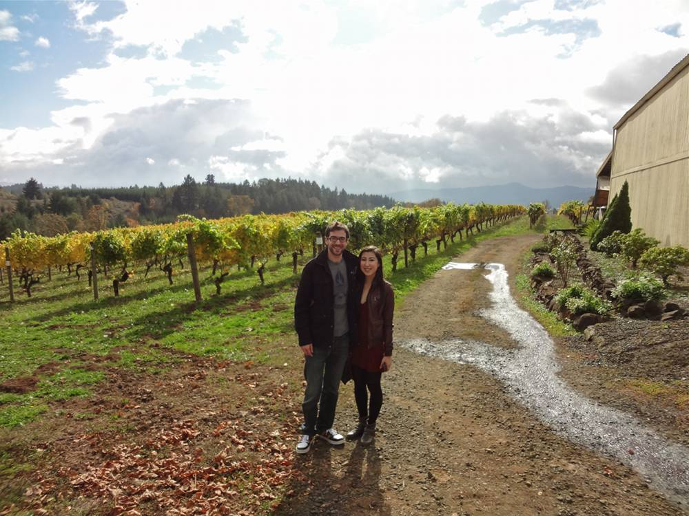 Daniel & Michele at David Hill Vineyard