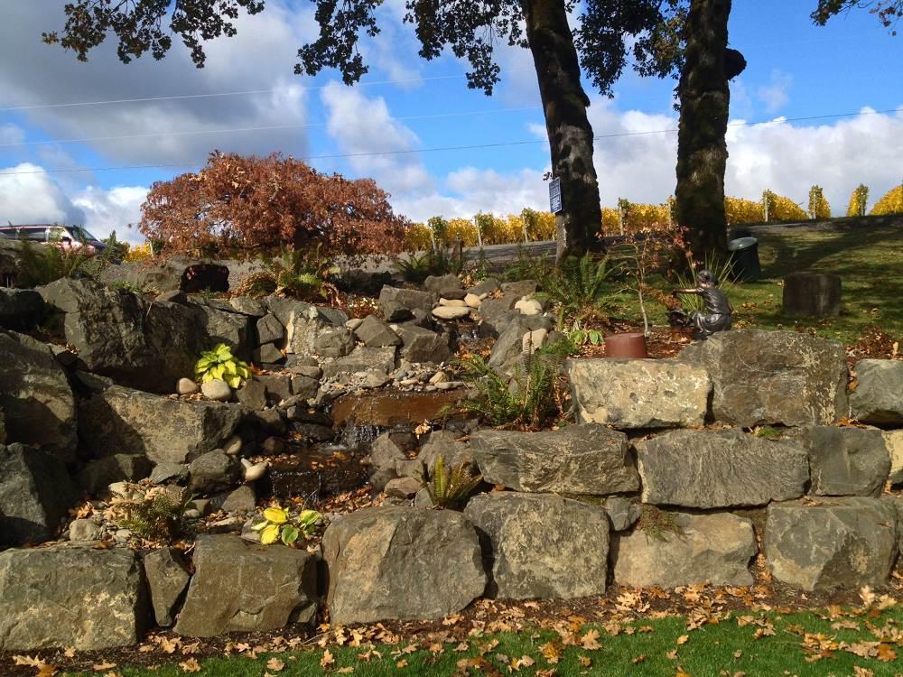 Fountain at Shafer Wineyard Cellar