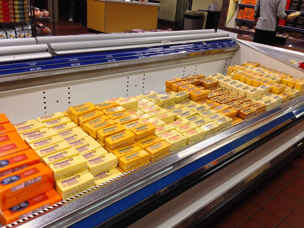 Tillamook Cheese Case