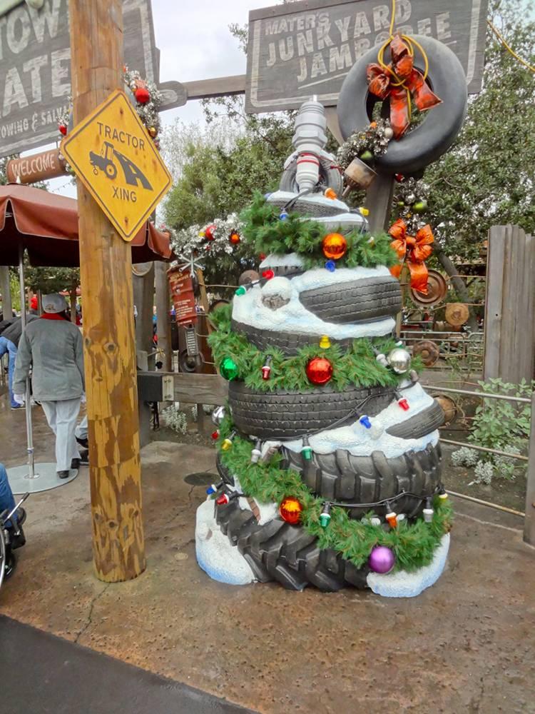 Cars Land Tire Tree