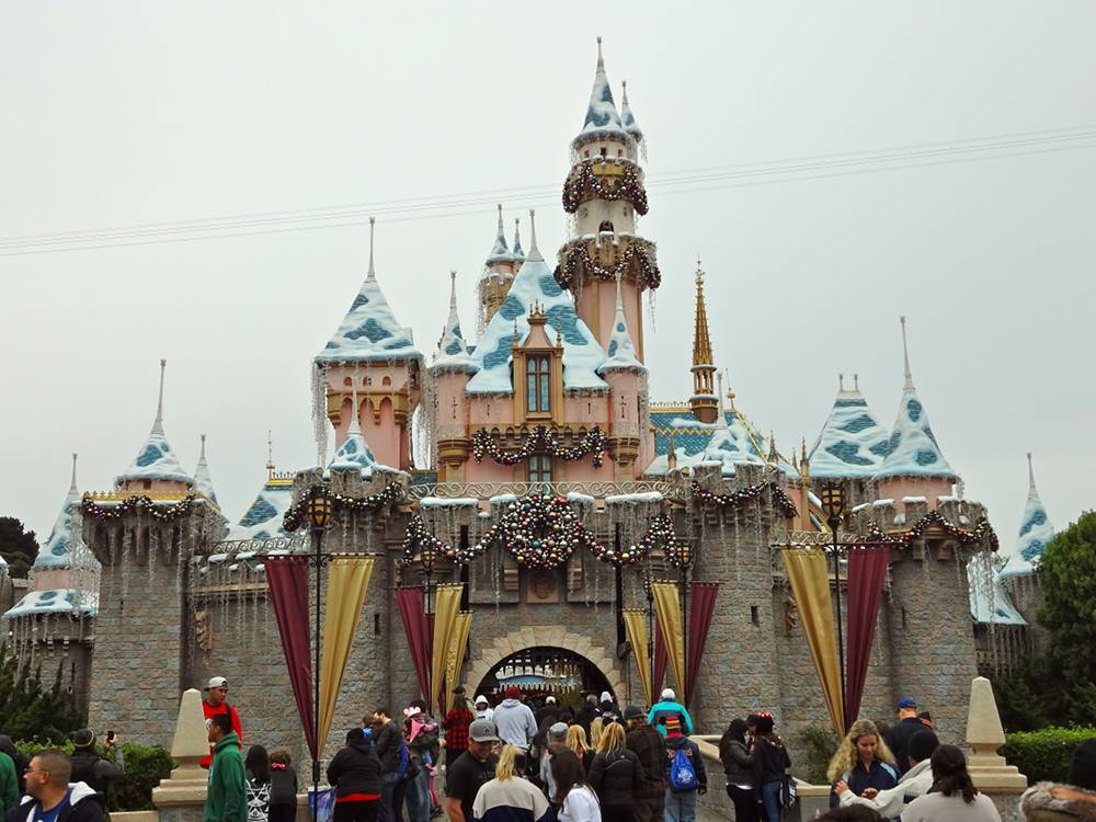 Christmas Sleeping Beauty Castle