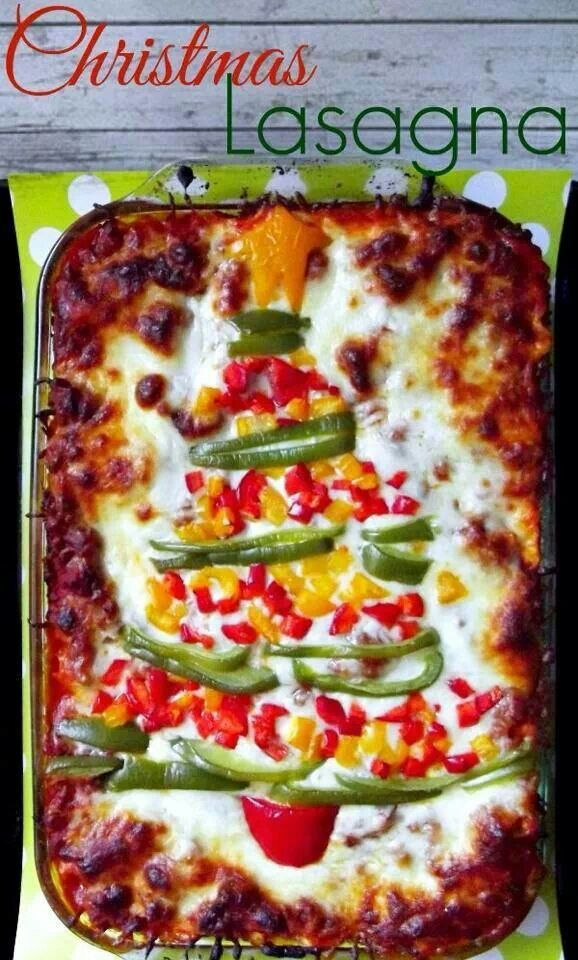 Christmas Tree Lasagna Topper