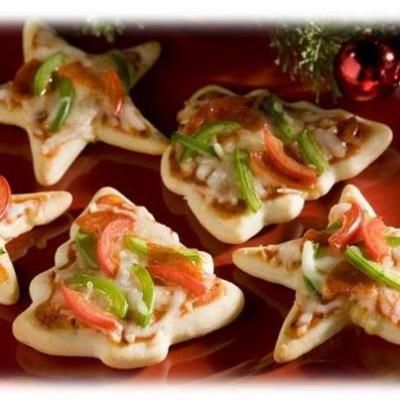 Cookie Cutter Christmas Pizzas