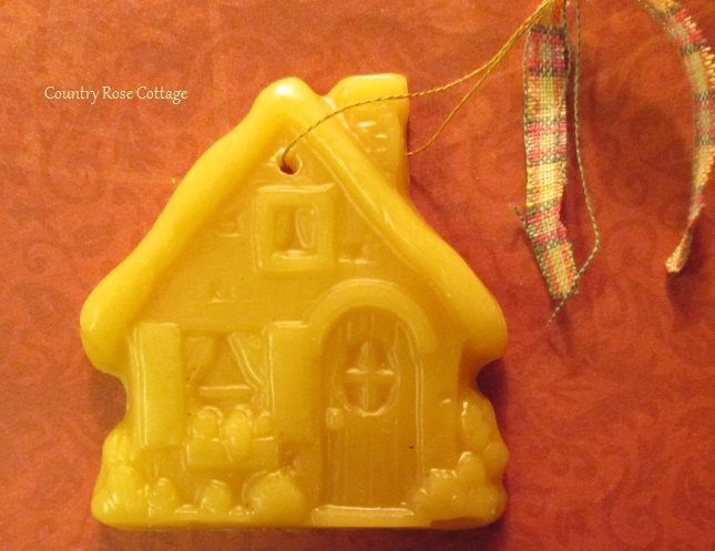 Country Rose Cottage Beeswax Ornament