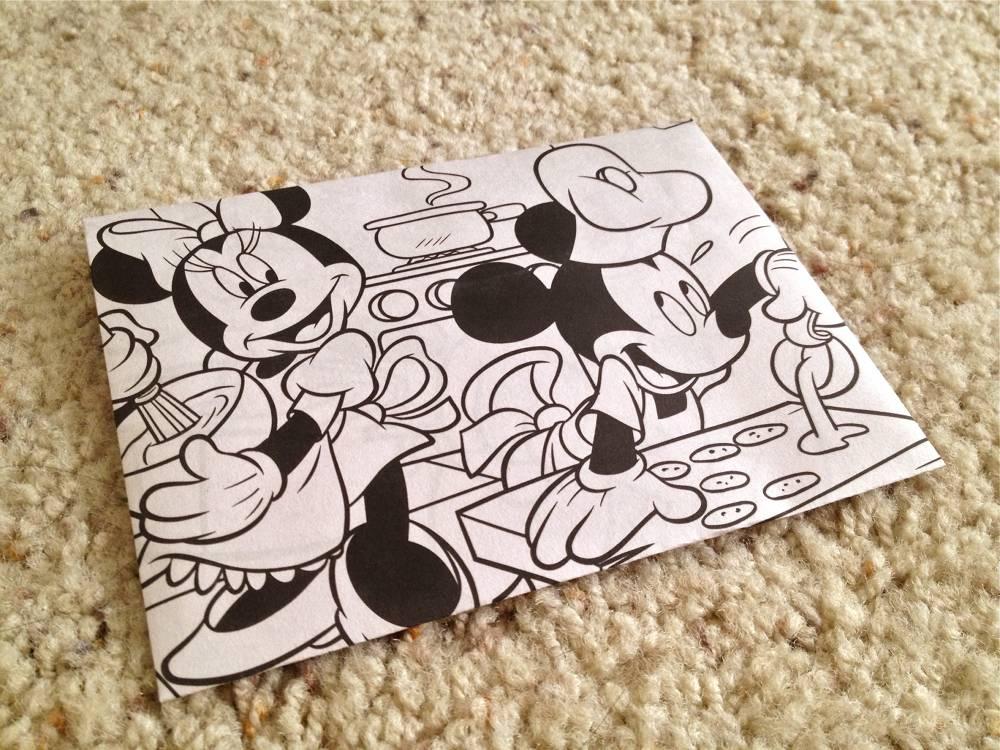 DIY Coloring Book Envelope