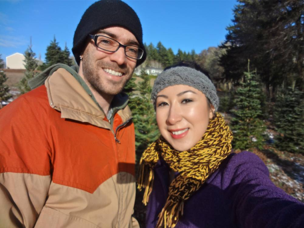 Daniel & Michele at the Christmas Tree Farm