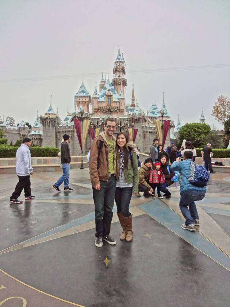 Daniel & Michele with Christmas Sleeping Beauty Castle