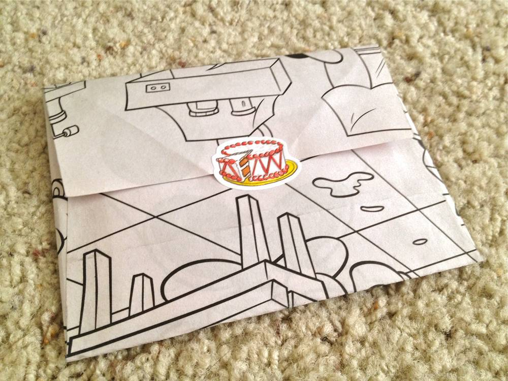 Disney Coloring Book Envelope