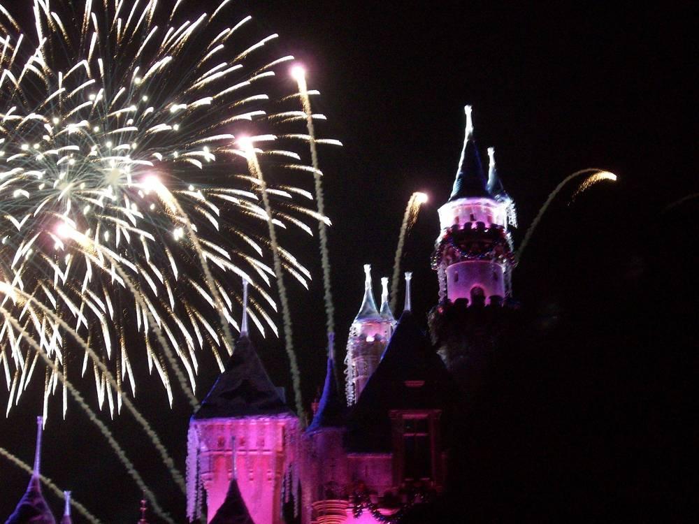 Disneyland Christmas Fireworks Display