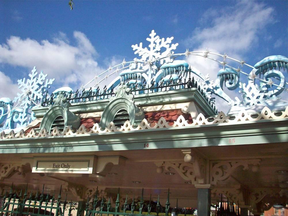 Disneyland Snowflake Entrance