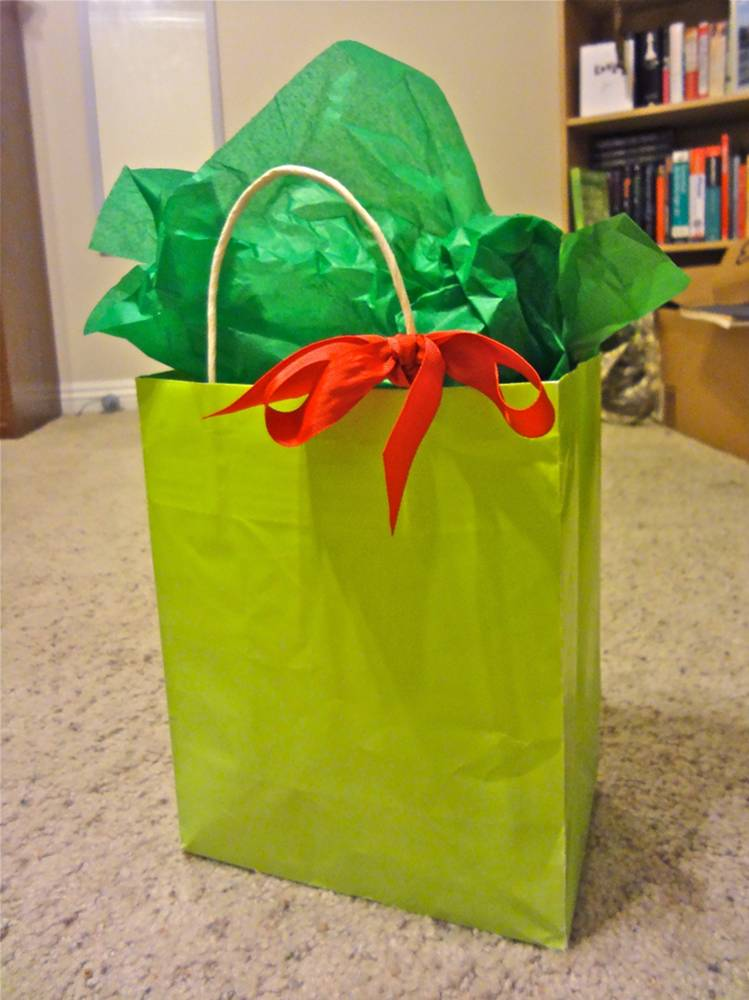 Green on Green Christmas Wrapping