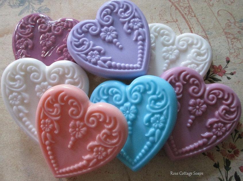 Handmade Heart Soaps