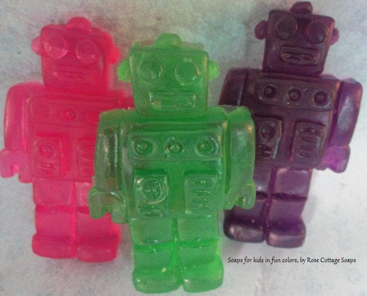 Handmade Robot Soaps