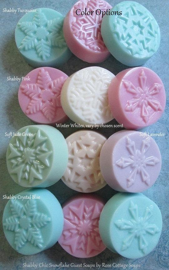 Handmade Snowflake Soaps