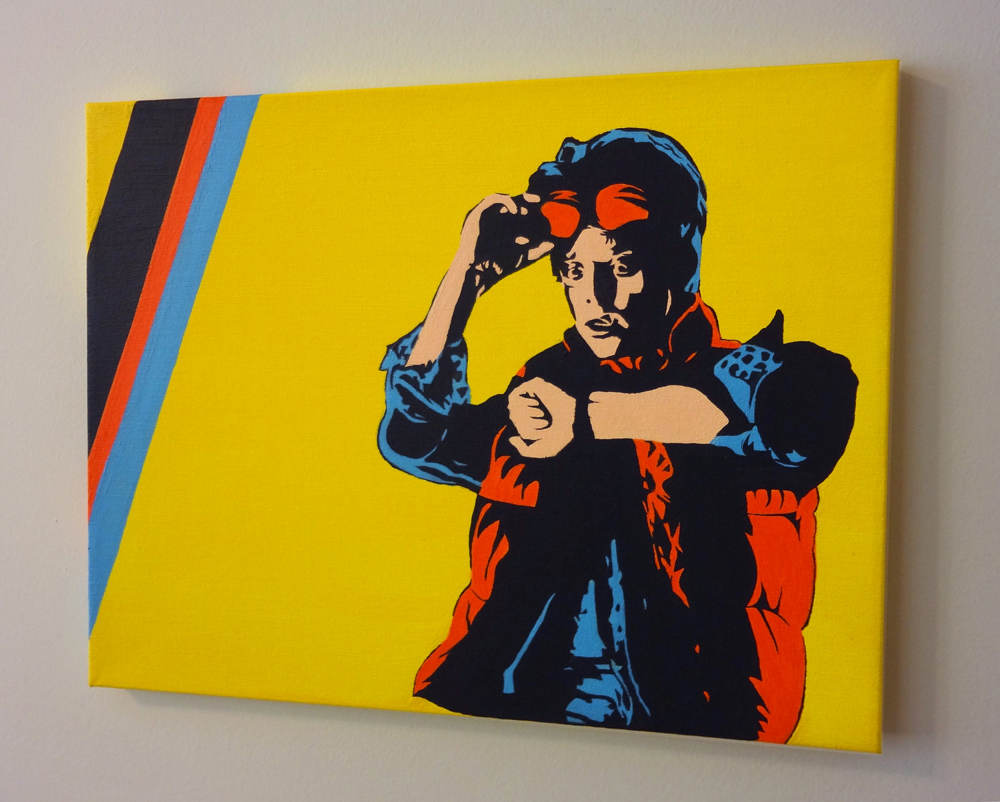 Marty McFly Pop Art Painting
