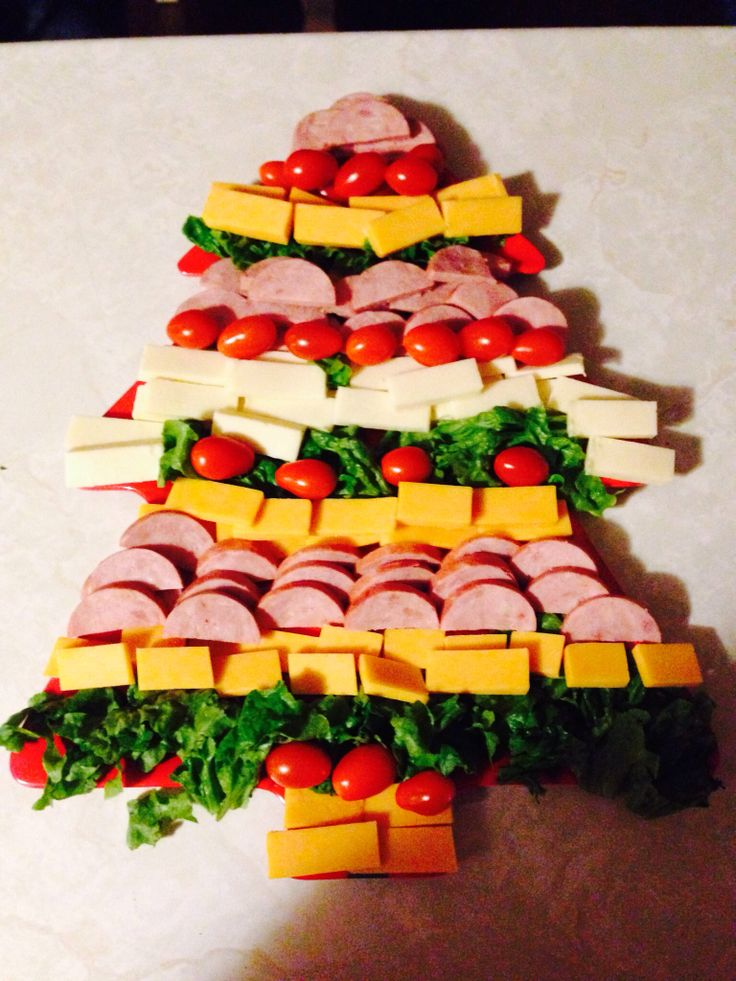 Meat and Cheese Christmas Tree Platter