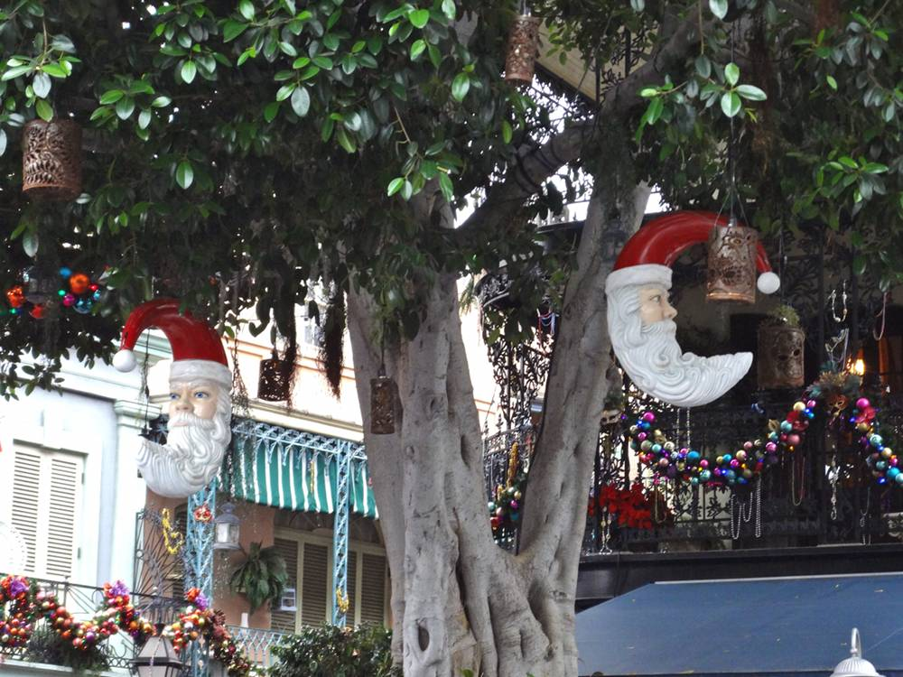 New Orleans Square Santa Decorations