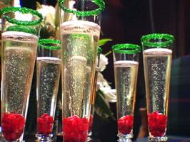 Pomegranate Champagne Christmas Drinks