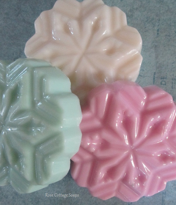 Rose Cottage Snowflake Soaps