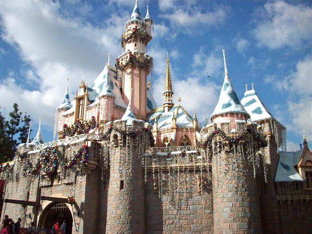 Sleeping Beauty Castle Christmas Decorations