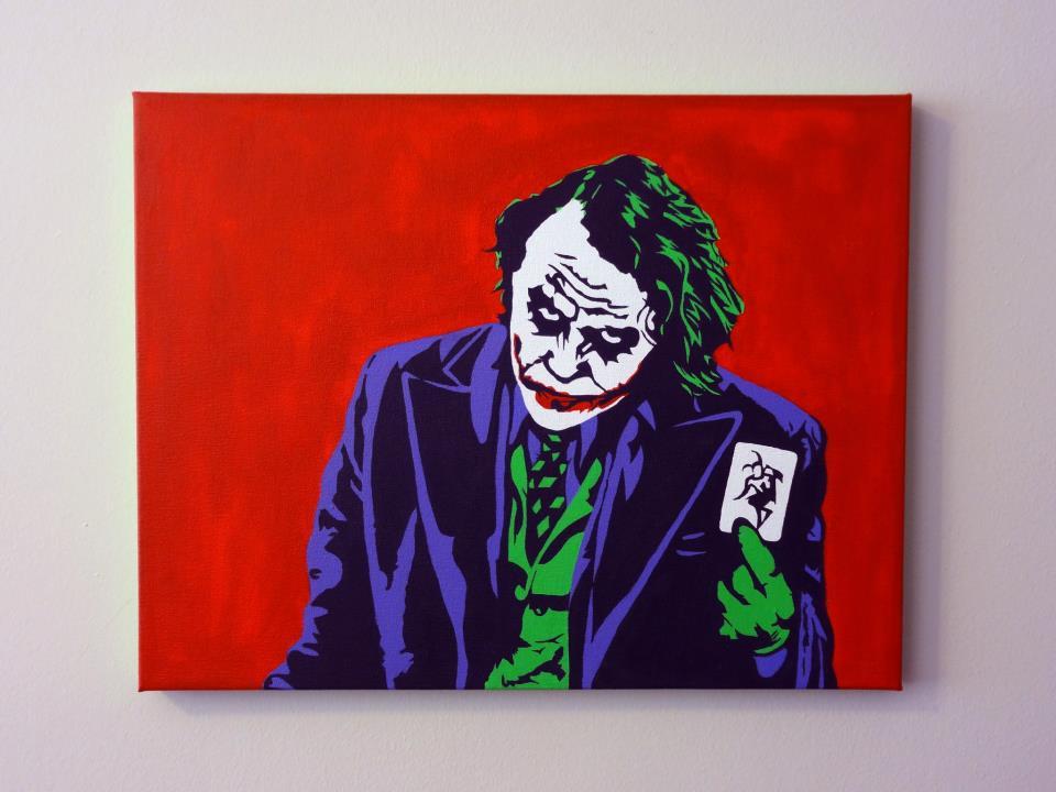 The Joker Pop Art Painting