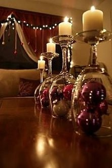 Wine Glass Holiday Decorations