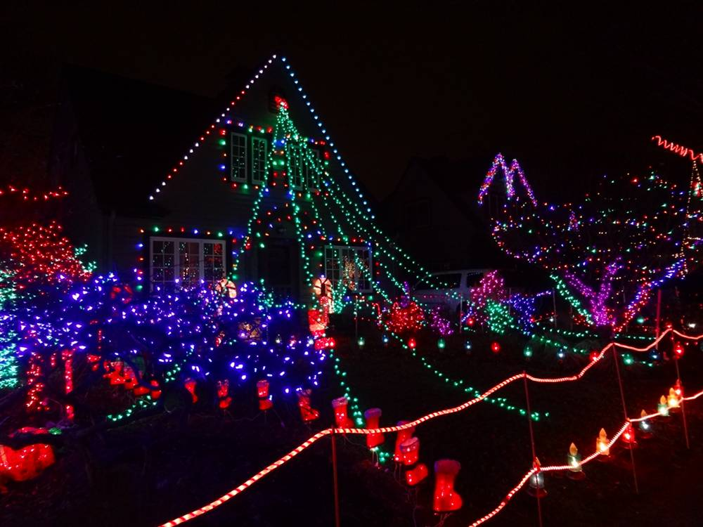 Christmas Lights Displayed at Peacock Lane