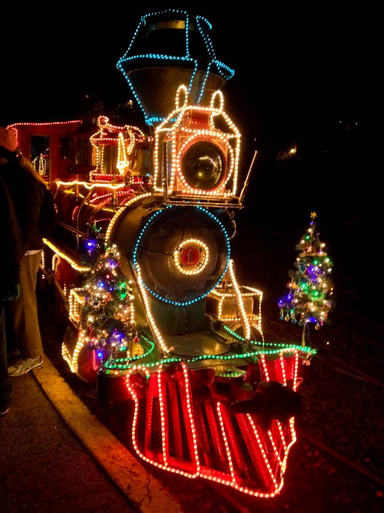 Christmas Train Lights