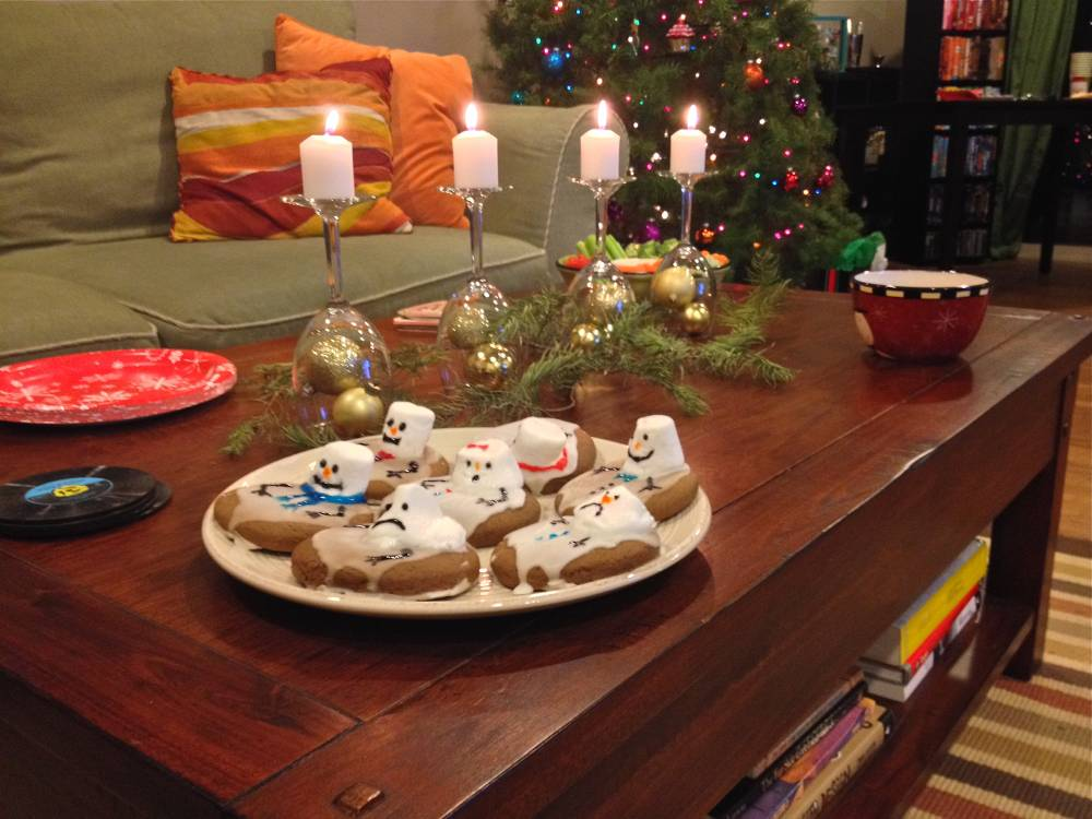 Coffee Table Holiday Party Display