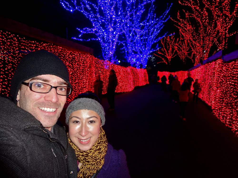 Daniel & Michele at the Oregon Zoo Lights
