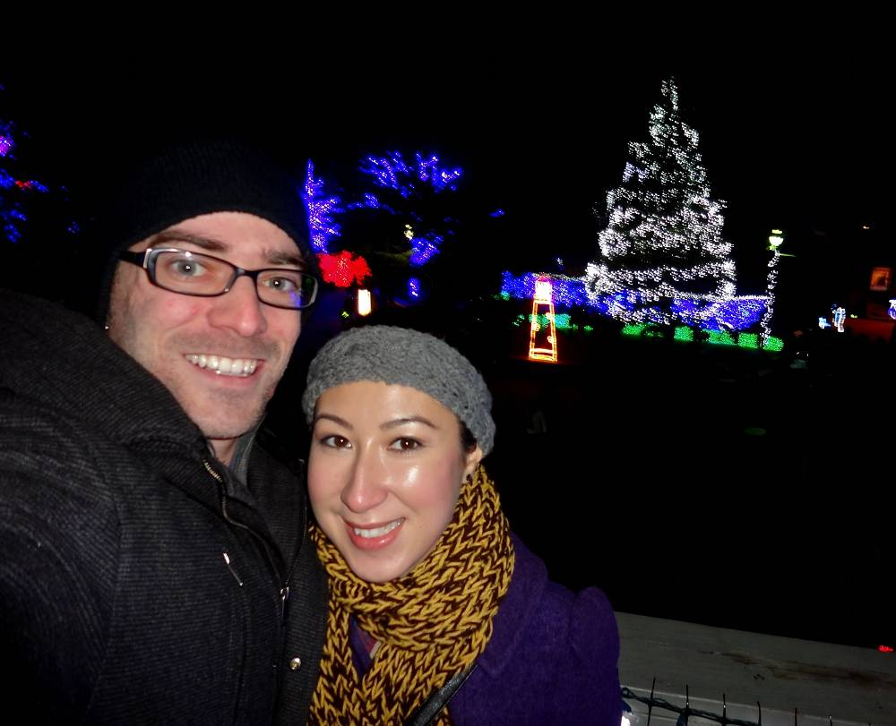Daniel & Michele at the Zoo Lights in Oregon