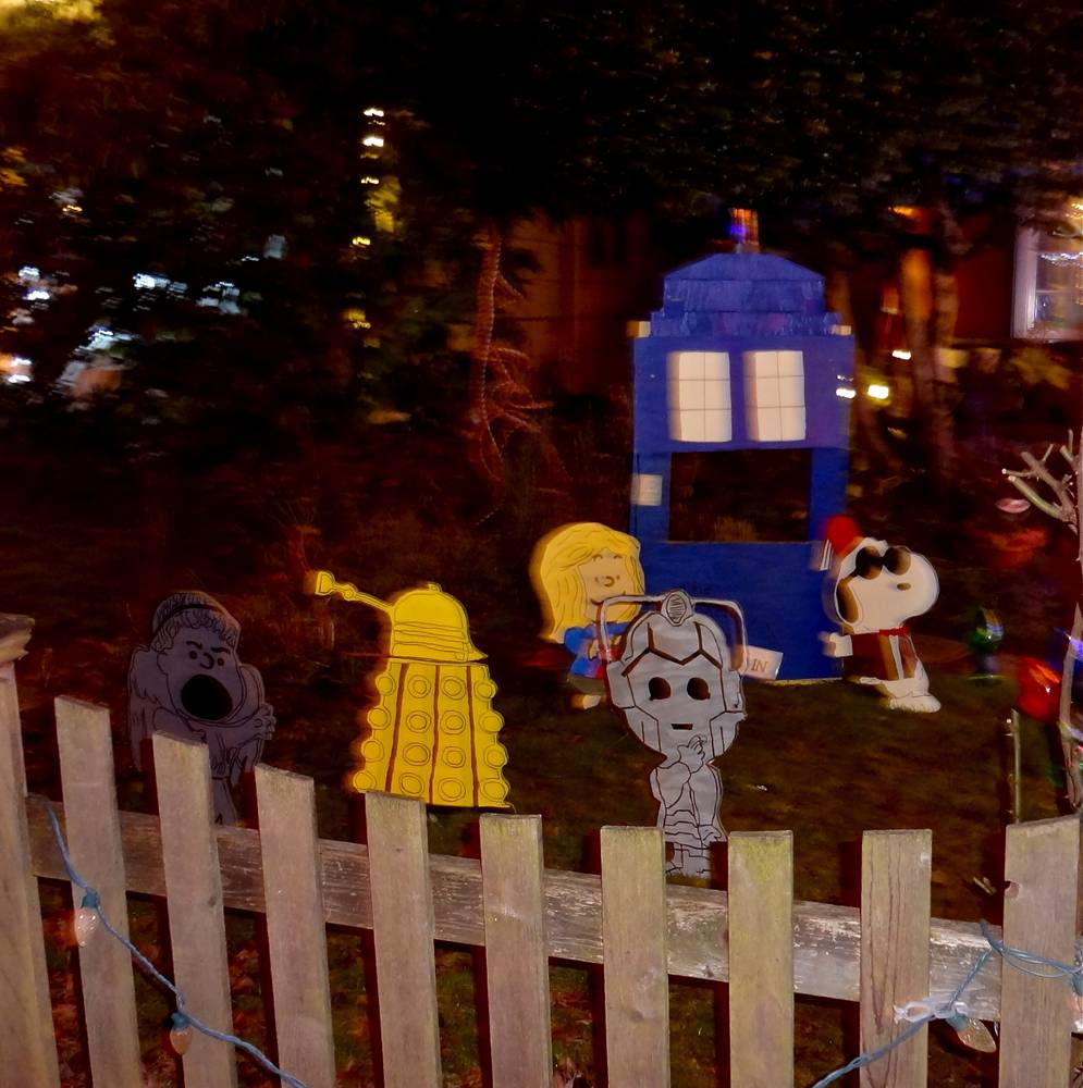 Doctor Who Display at Peacock Lane