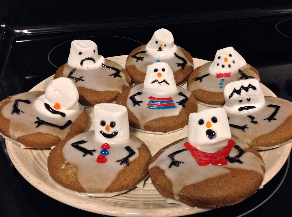 Gingerbread Snowmen Cookies