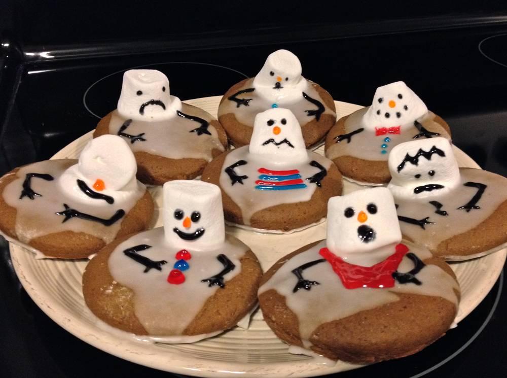 Gingerbread Snowmen Cookies