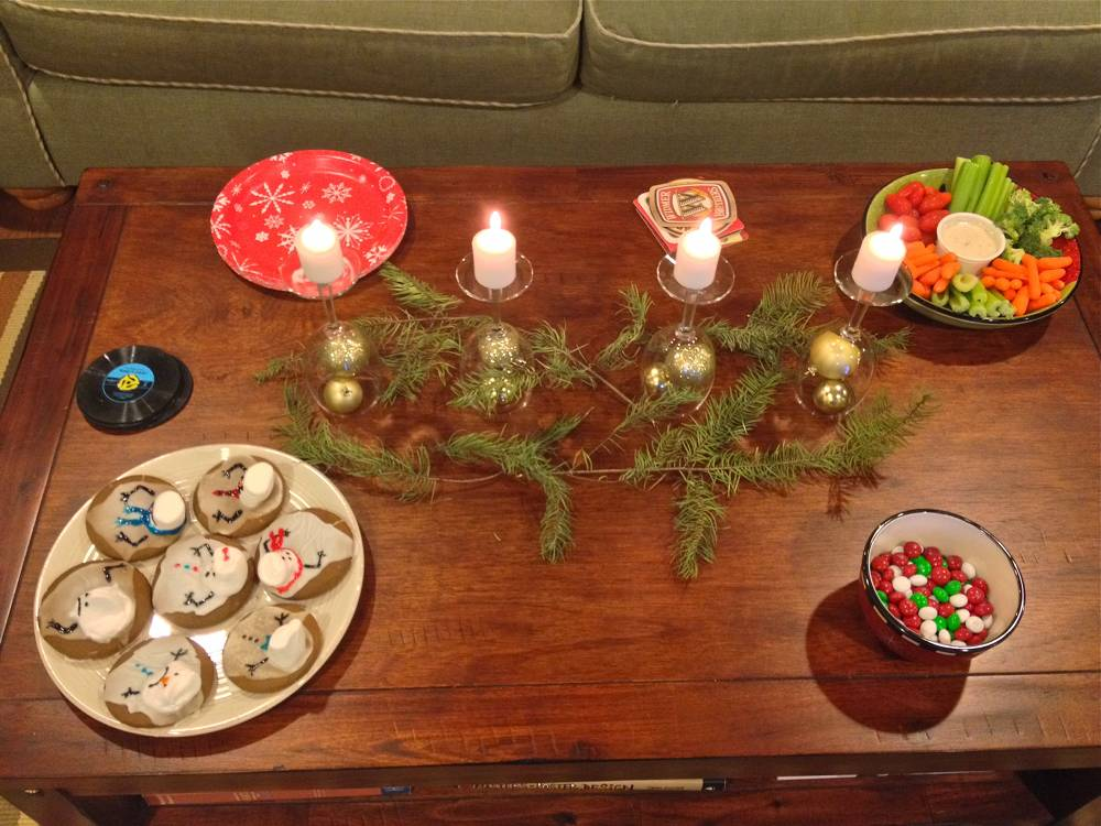 Holiday Party Coffee Table Display