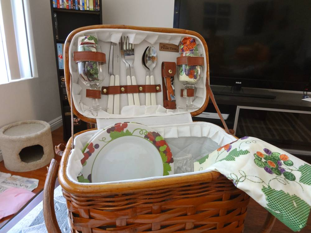 Open Picnic Basket Valentine's Day Gift
