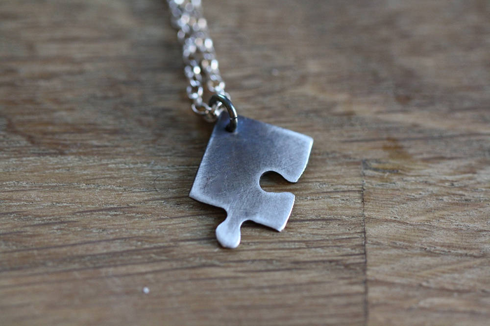 Puzzle Piece Necklace Valentine's Day Gift