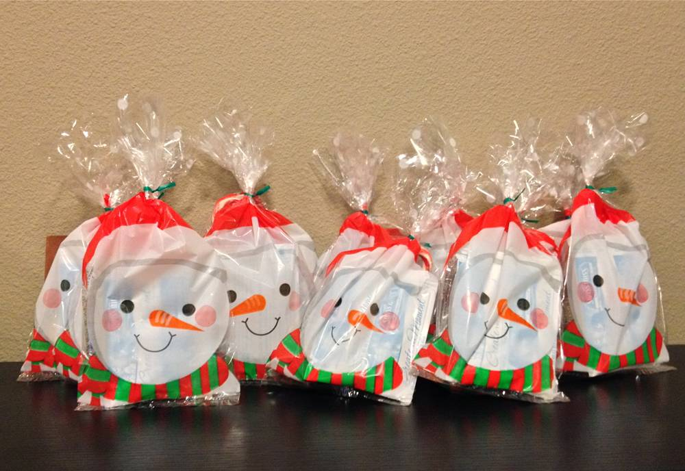 Snowmen Party Favor Bags