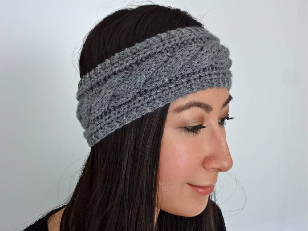 Cable Knit Headband on Etsy
