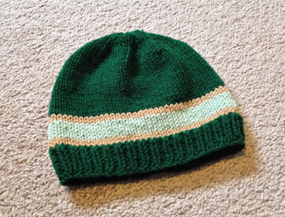 Easy Knitting Pattern For A Hat : DIY Knit Beard Hat Pattern - lil bit