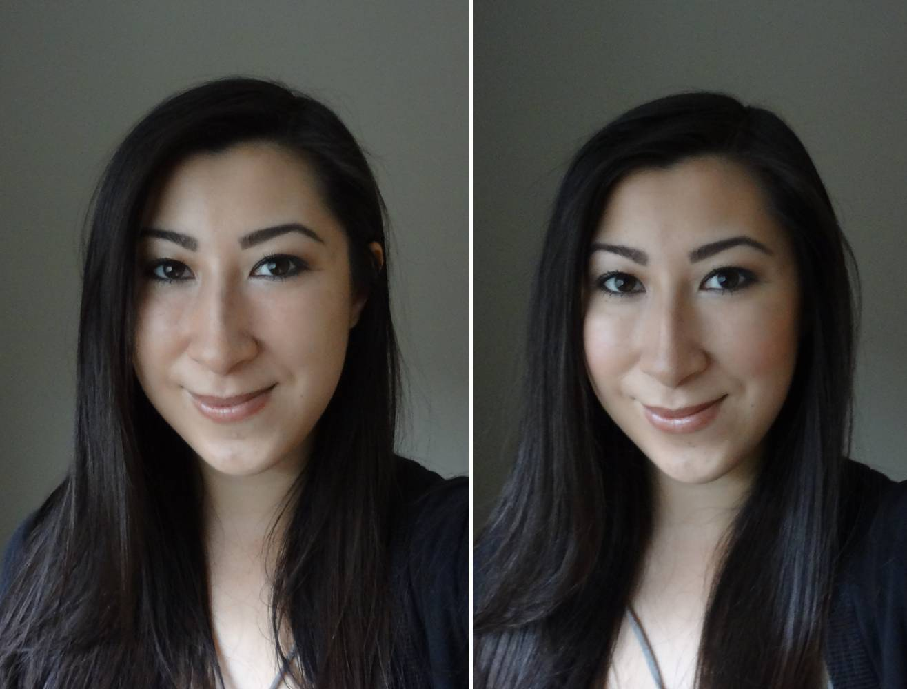 Before and after of Highlight and Contouring