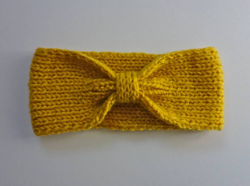 Handmade Knit Bowtie Headband on Etsy