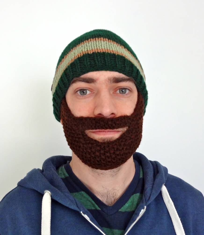 Knitted Beard Hat on Etsy
