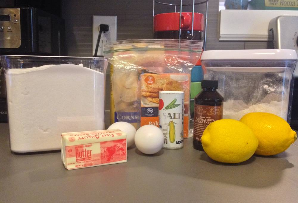 Lemon Cookies Ingredients