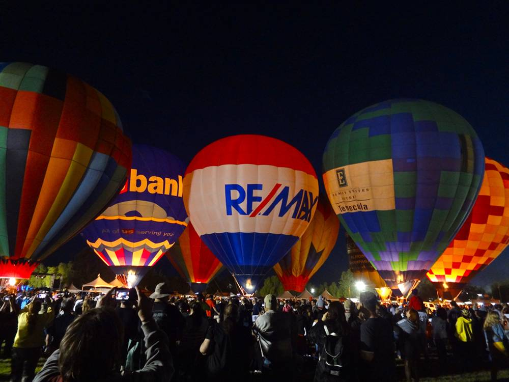 Balloon Glow at the Balloon and Wine Festival