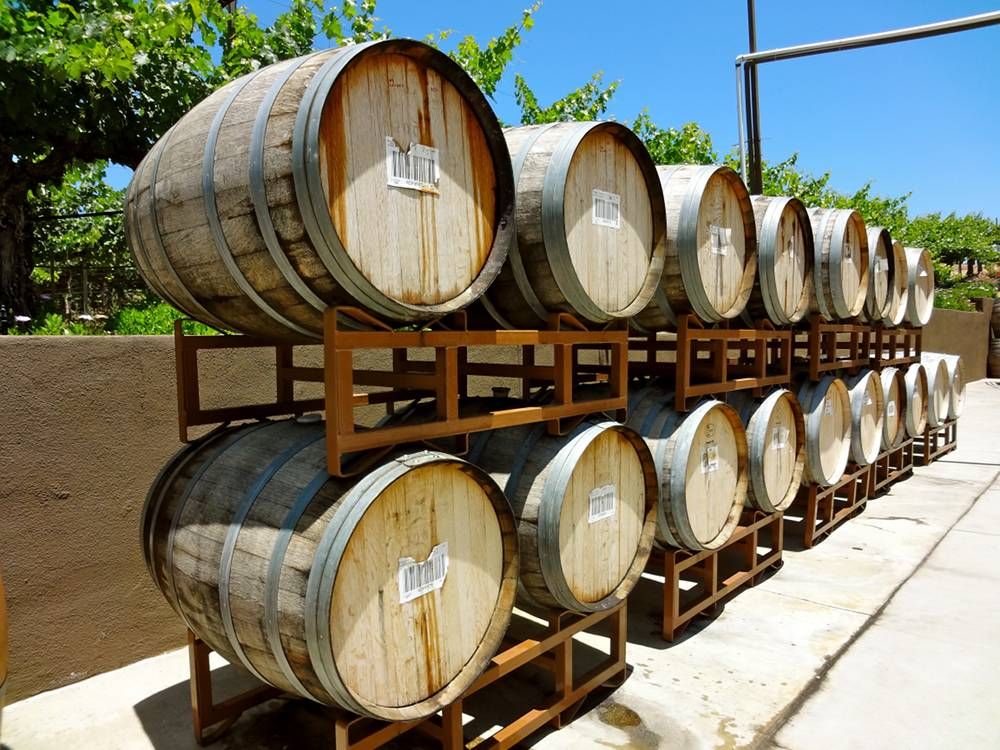 Barrels of Wine at Wilson Creek Winery in Temecula