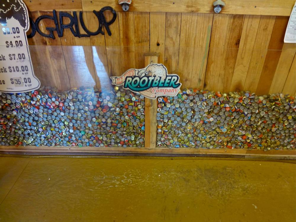 Bottle Caps at The Old Town Rootbeer Company in Temecula