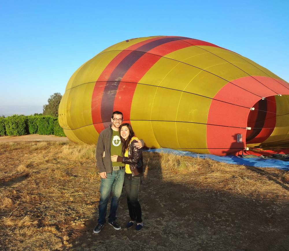 Daniel and Michele Take a Hot Air Balloon Ride in Temecula