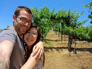 Daniel and Michele at the Wilson Creek Winery in Temecula